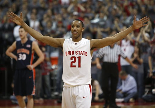Ohio State's Evan Turner Arms Up