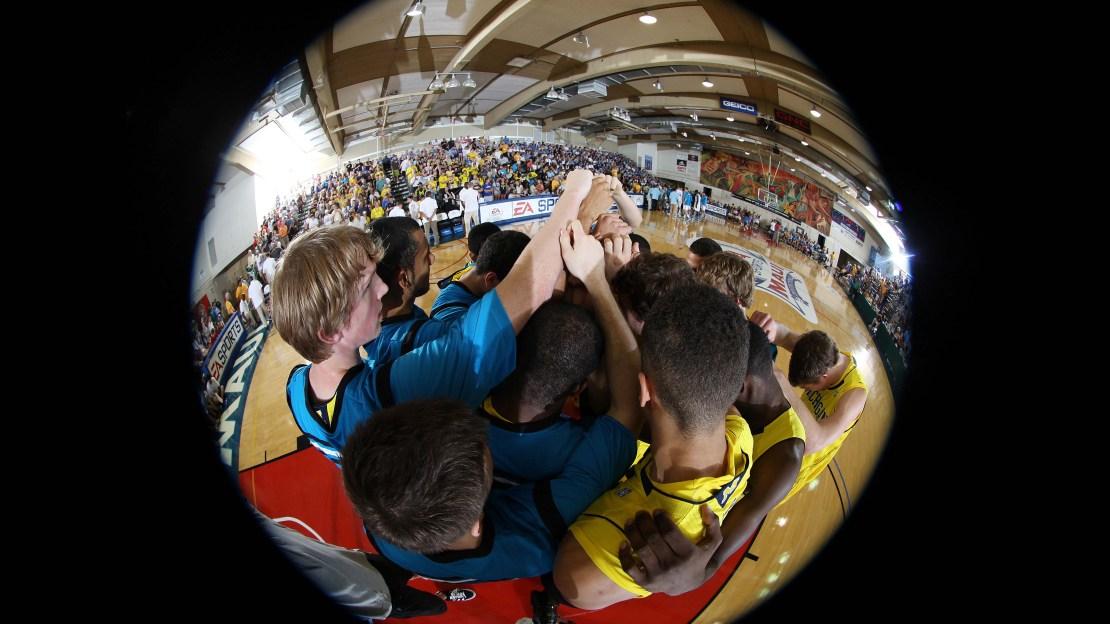 Michigan Basketball Huddle