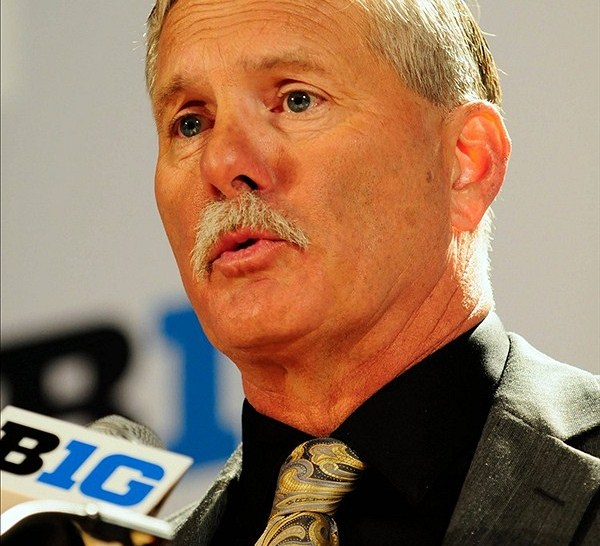 Purdue Boilermakers head coach Danny Hope speaks during the Big Ten media day at the McCormick Place Convention Center.