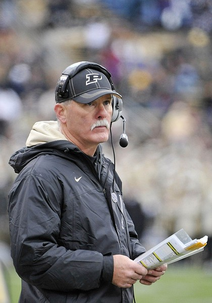 November 3, 2012; West Lafayette, IN, USA; Purdue Boilermakers head coach Danny Hope during the game against the Penn State Nittany Lions at Ross Ade Stadium. Mandatory Credit: Sandra Dukes-US PRESSWIRE