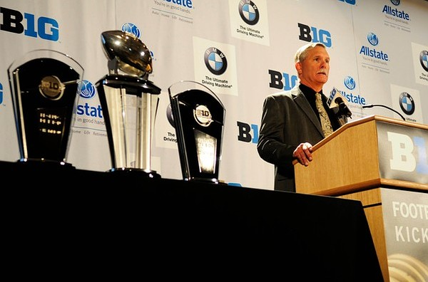 July 26, 2012; Chicago, IL, USA; Purdue Boilermakers head coach Danny Hope speaks during the Big Ten media day at the McCormick Place Convention Center. Mandatory Credit: Reid Compton-US PRESSWIRE
