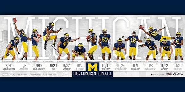 Photos See 2014 Big Ten Football Schedule Posters Big Ten Network