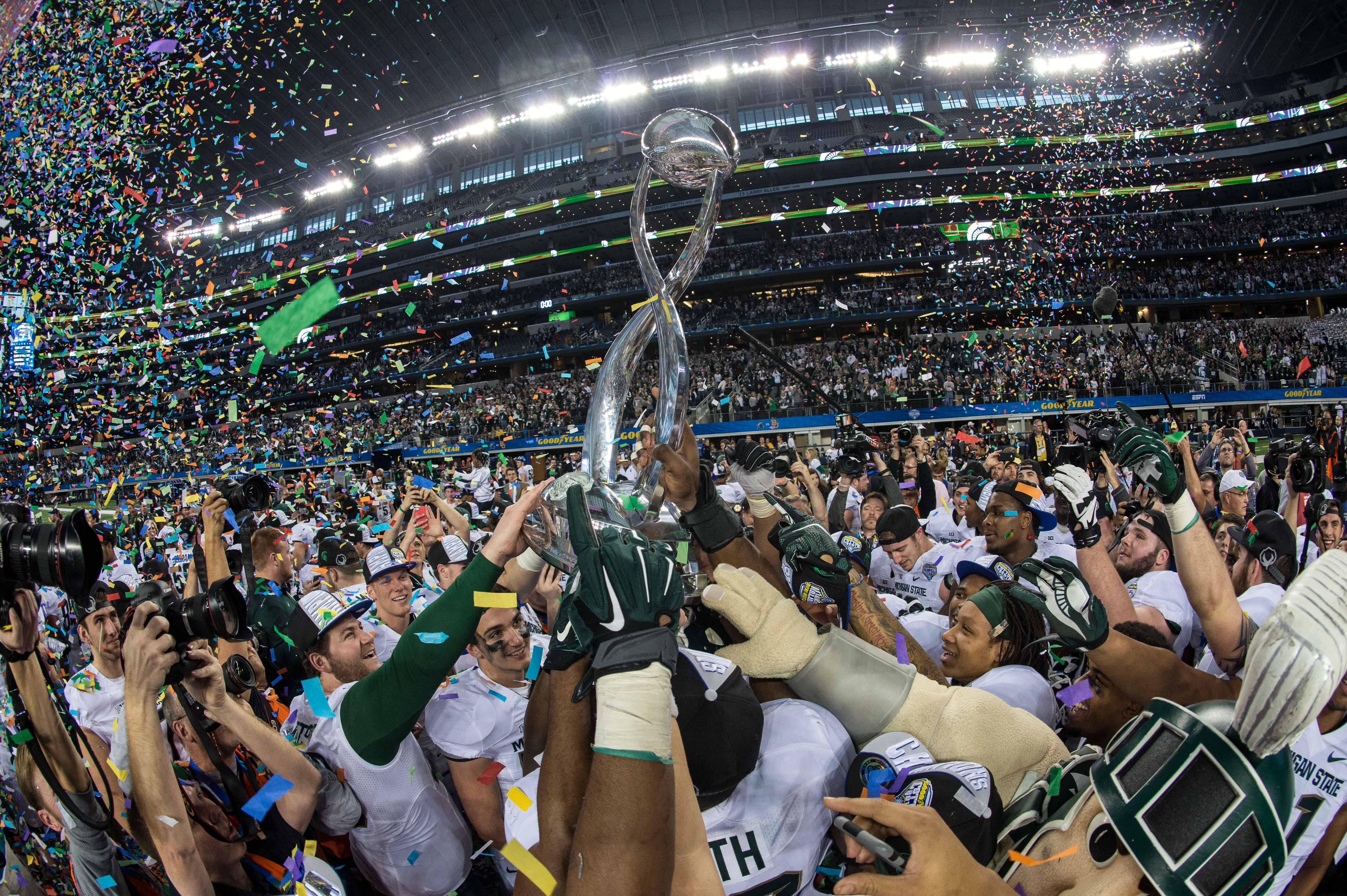 Best Of Cotton Bowl Michigan State Rallies Stuns Baylor In Final Seconds Big Ten Network