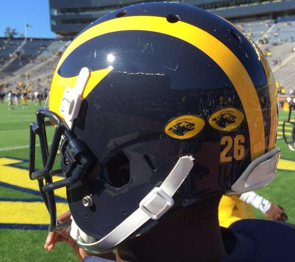 Photo Check Out A First Look At Michigan S Helmet Stickers Big Ten Network