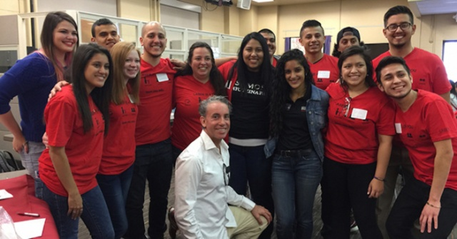 Aldama (kneeling, center) with LASER scholars at Ohio State