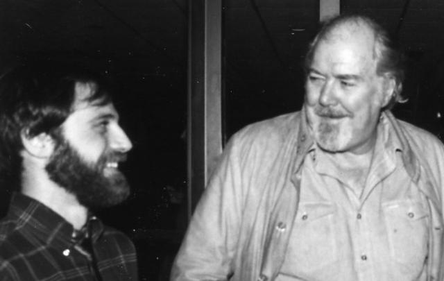 Deutchman (left) with Robert Altman