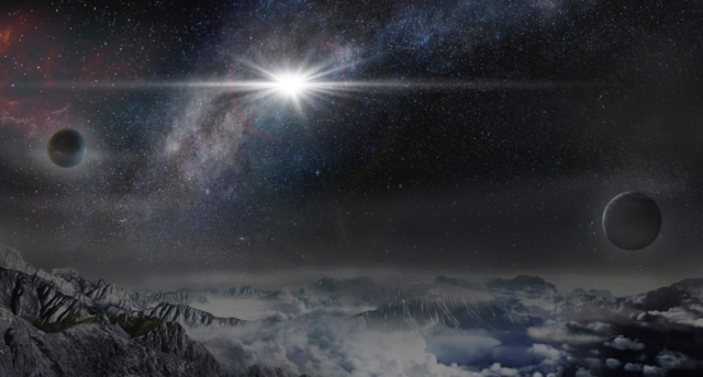 An artist's rendering of what this phenomenon would look like from 10,000 light years away. Source: Beijing Planetarium/Jin Ma