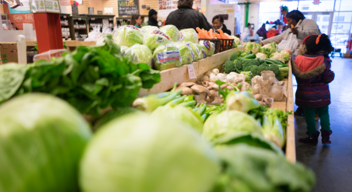The Flint Farmers' Market. Photo courtesy of Michigan State.