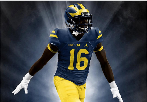 reputable site 85a48 2c943 Photo: Check out these Michigan Jordan brand concept ...