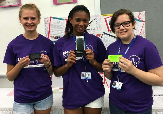 Girls attending Penn State's SMART STEM summer camp