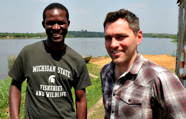 Tutilo Mudumba and Robert Montgomery of Michigan State's RECaP Laboratory
