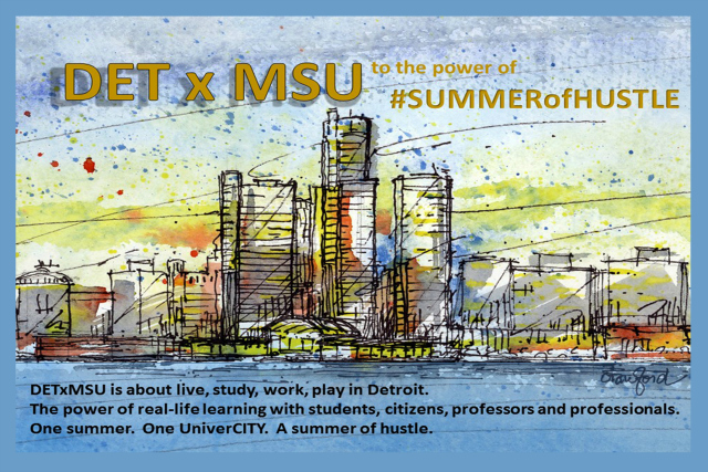 Michigan State University flyer for the DETxMSU program