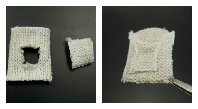 Self healing fabric from Penn State