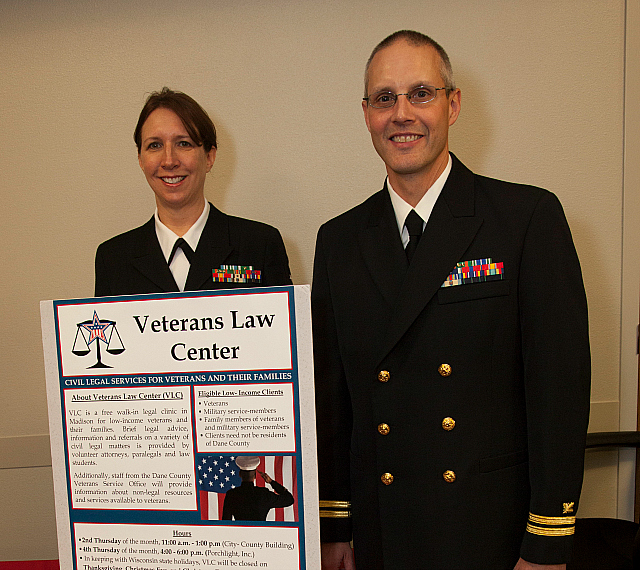Clients (in uniform) at the University of Wisconsin Veterans Law Center clinic