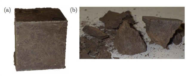 An example of a casting of concrete that could be made from Martian soil.