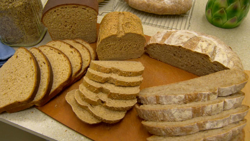 Examples of food products made using the University of Minnesota's Kernza grain.