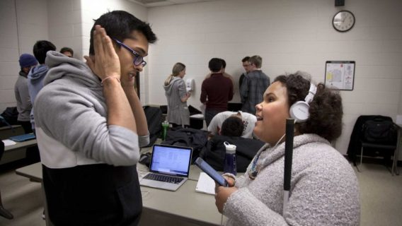 Michigan engineering student works with India West on technology for people with visual disabilities.