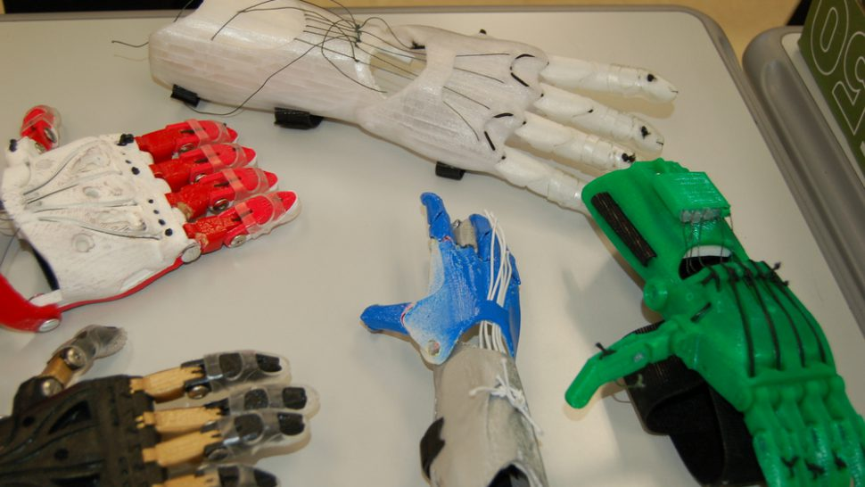 3D printed prosthetics hands from Penn State engineering students