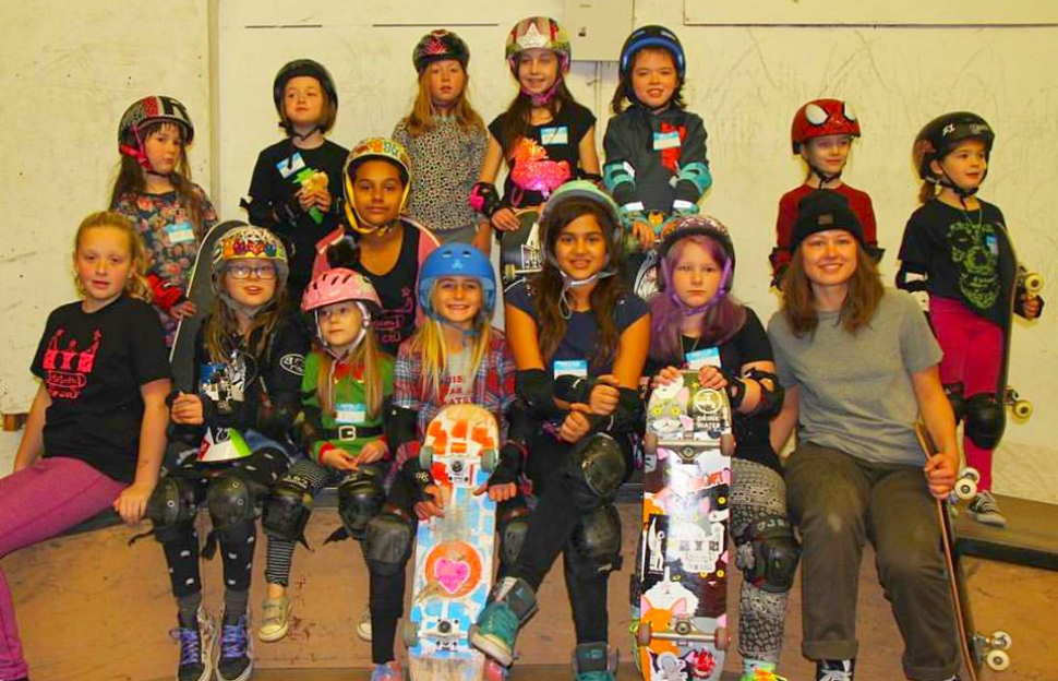 Riders at a GRO skateboarding event