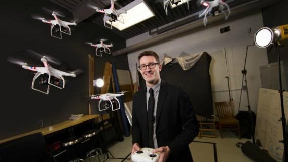 University of Nebraska-Lincoln drone journalism professor Matt Waite