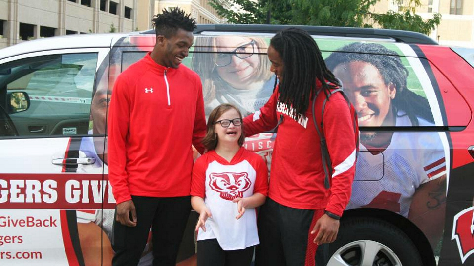 University of Wisconsin athletes participate in the Badgers Give Back program.