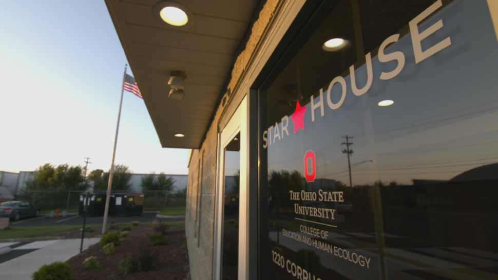 Exterior of The Ohio State University Star House drop-in resource center for homeless youth.