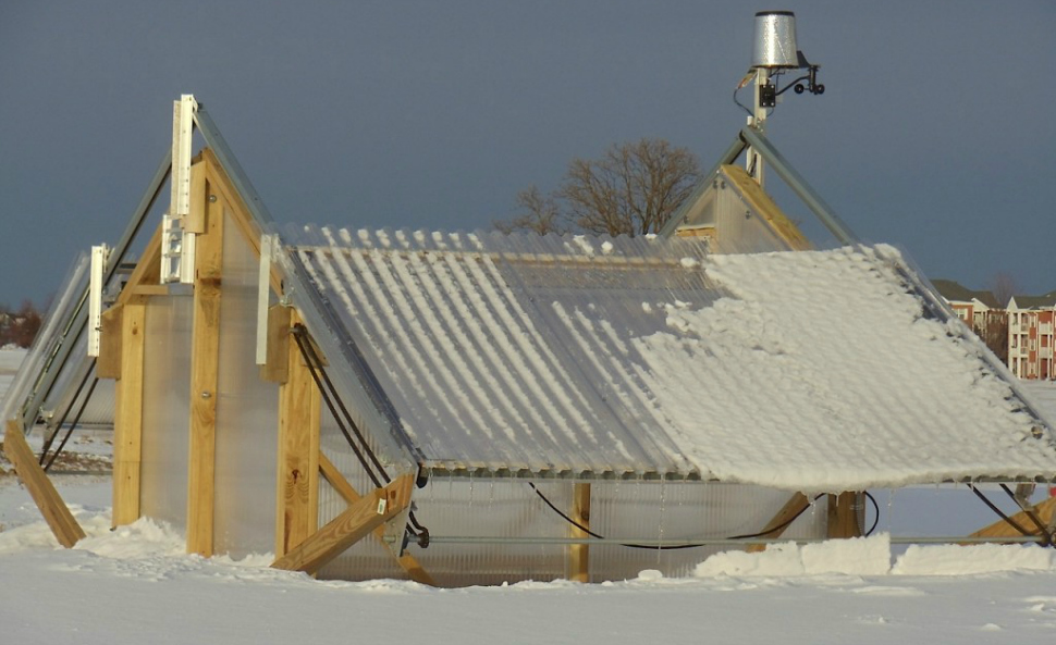 University of Wisconsin-Madison researchers greenhouses for studying the subnivium layer