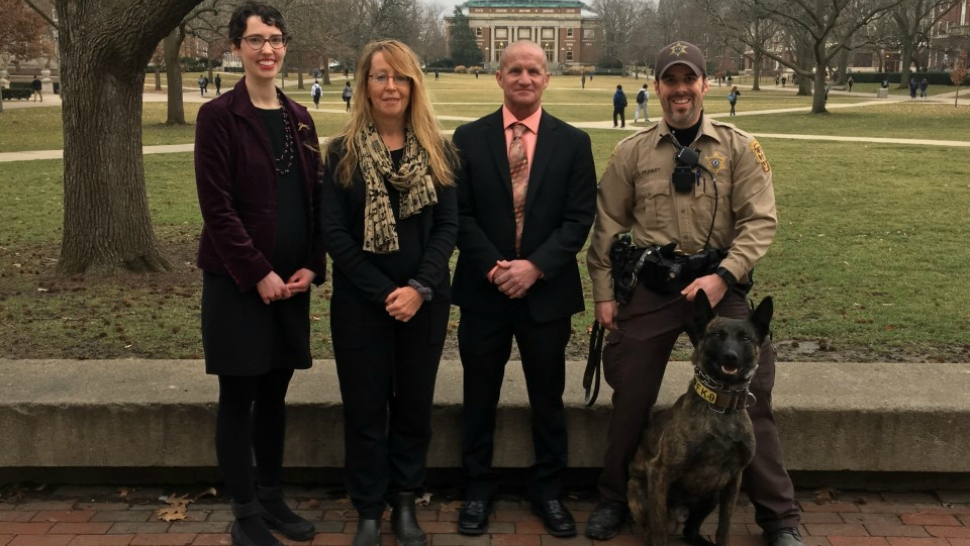 University of Illinois veterinarians, Carle Arrow Ambulance and local police are partnering to help save the lives of canine cops.