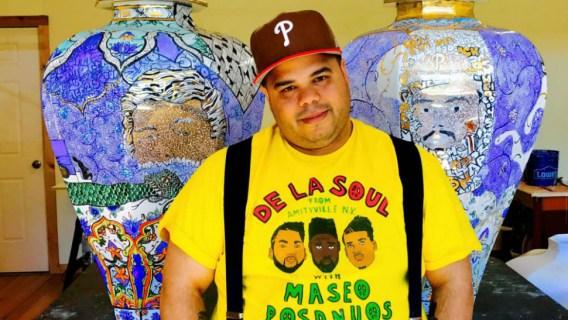 Poet, potter, artist, rapper, activist and Penn State alum Roberto Lugo
