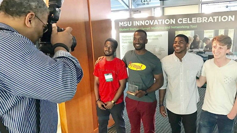 Sympl co-founders at the MSU Spartan Innovation Center