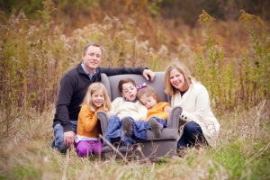 Tracy and Jennifer VanHoutan and their children