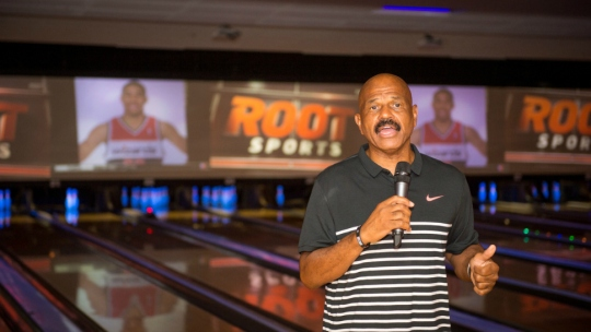 Form University of Maryland basketball star and coach John Lucas II at his Pin Down Sobriety event.