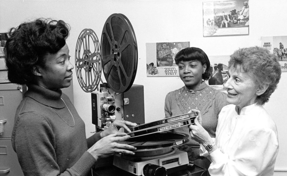 Archivists and director of Indiana University's Black Film Center/Archive