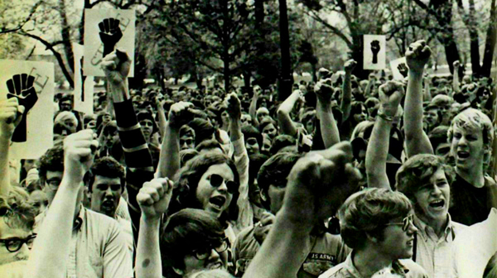 Protesters at Ohio State in the 1960's
