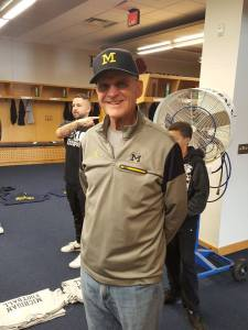 Jack Harbaugh, father of University of Michigan football coach Jim Harbaugh, at this year's Youth Impact Program camp