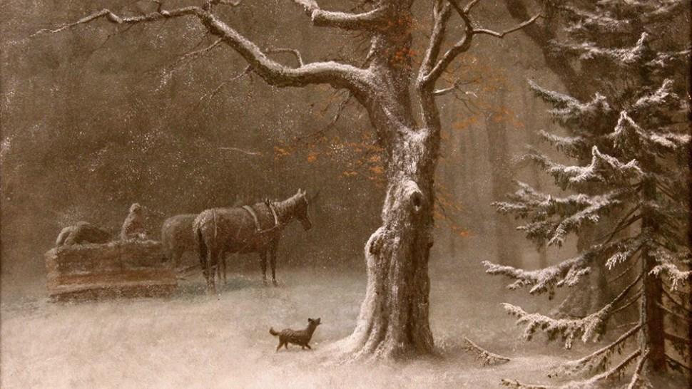 "Albert Bierstadt's ""Winter in the Sierras"" (Gift of Dr. John and Elizabeth Christlieb)"