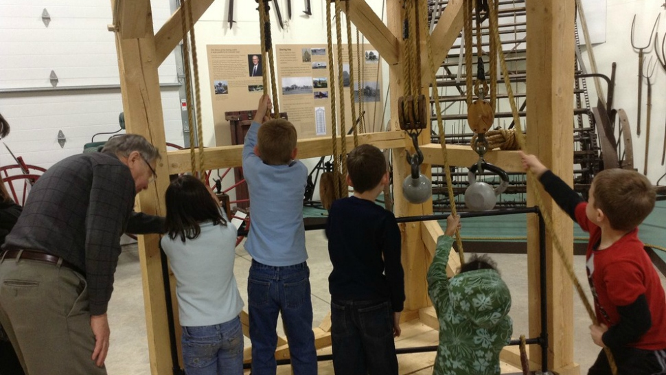 Kids enjoying an exhibit at Penn State's Pasto Agricultural Museum