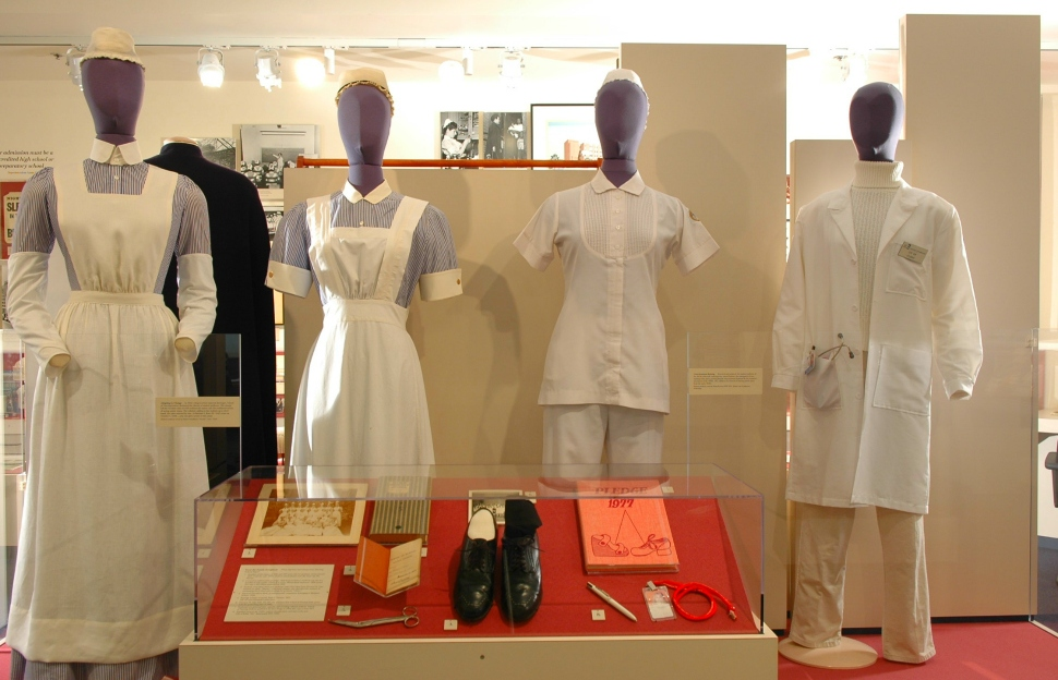 Nursing uniforms through the ages at the University of Maryland's Living History Museum