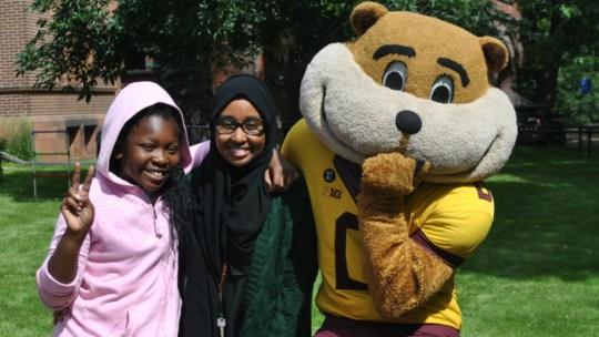 Kids at the 2017 University of Minnesota Kids Who Stutter camp