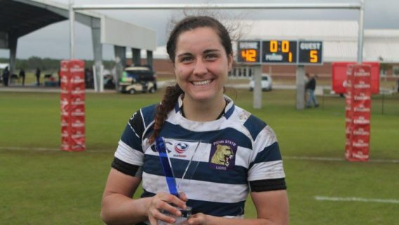 Penn State women's rugby star and US national team member Tess Feury
