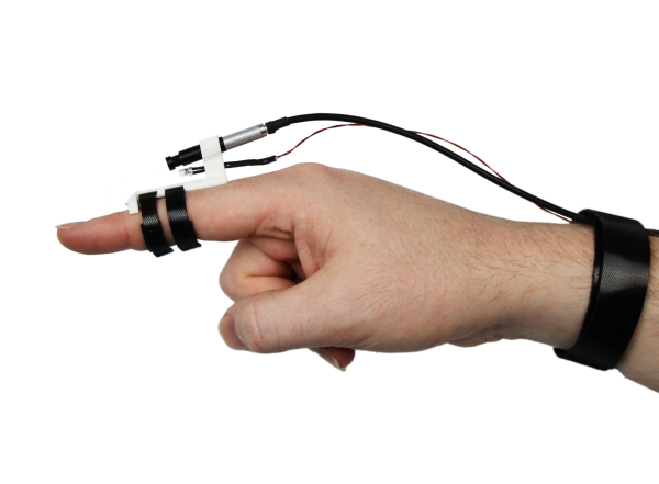 A prototype of the HandSight device