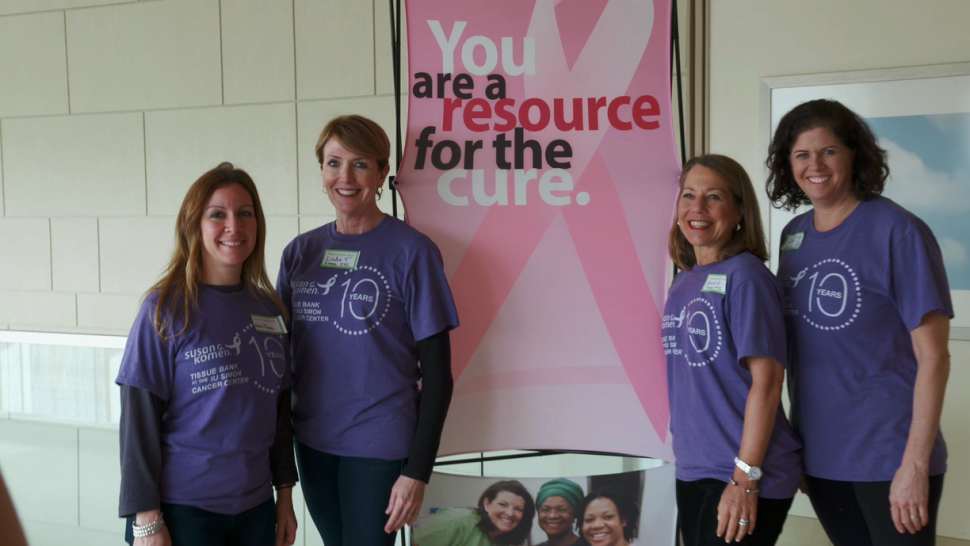 Women at the Susan G. Komen Tissue Bank at the IU Simon Cancer Center