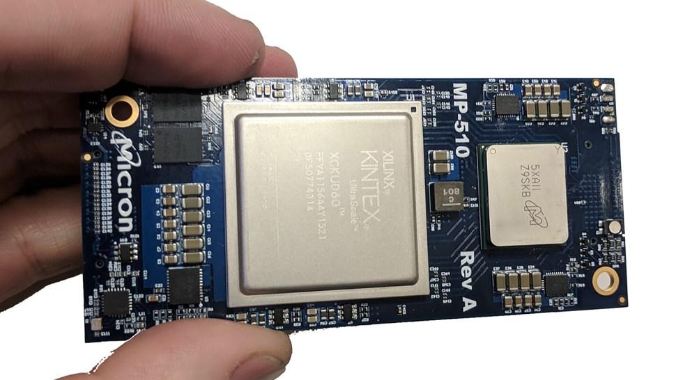 A Micron field programmable gate array module