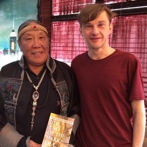 Rutgers University Professor Simon Wickhamsmith with Mongolian poet Tseveendorjin Oidov