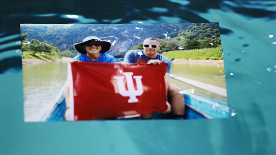 Indiana University alum Beth Kreitl and IU professor Bill Ramos in Vietnam