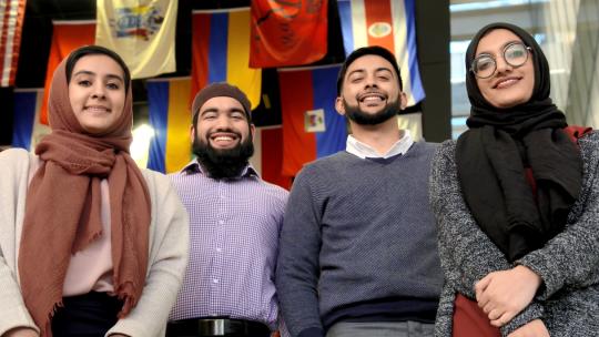 The founders of Roshni Rides, Rutgers Business School graduates.