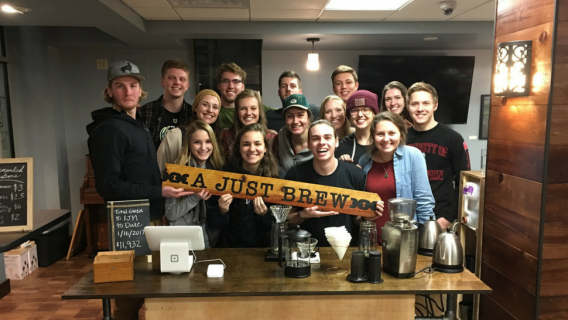 The student volunteers of A Just Brew at the University of Wisconsin-Madison