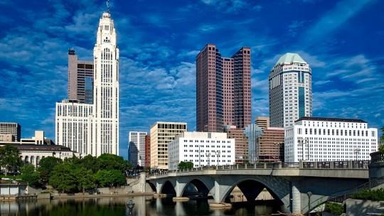 Downtown Columbus Ohio, home to Ohio State University
