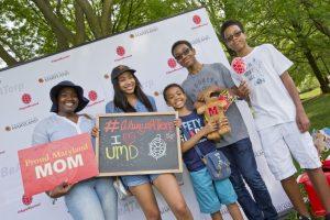 A family celebrating Maryland Day 2017