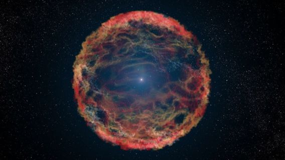 A supernova doing it's thing